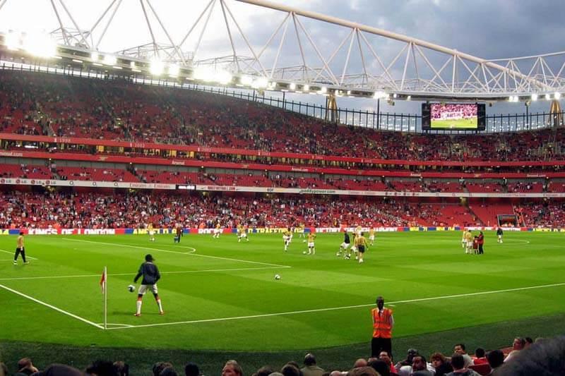 Het voetbalstadion in Manchester United